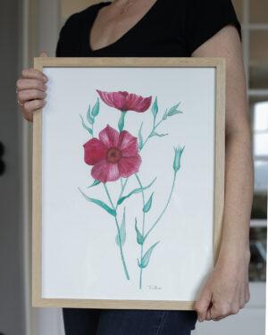 Konstprint Akvarell
