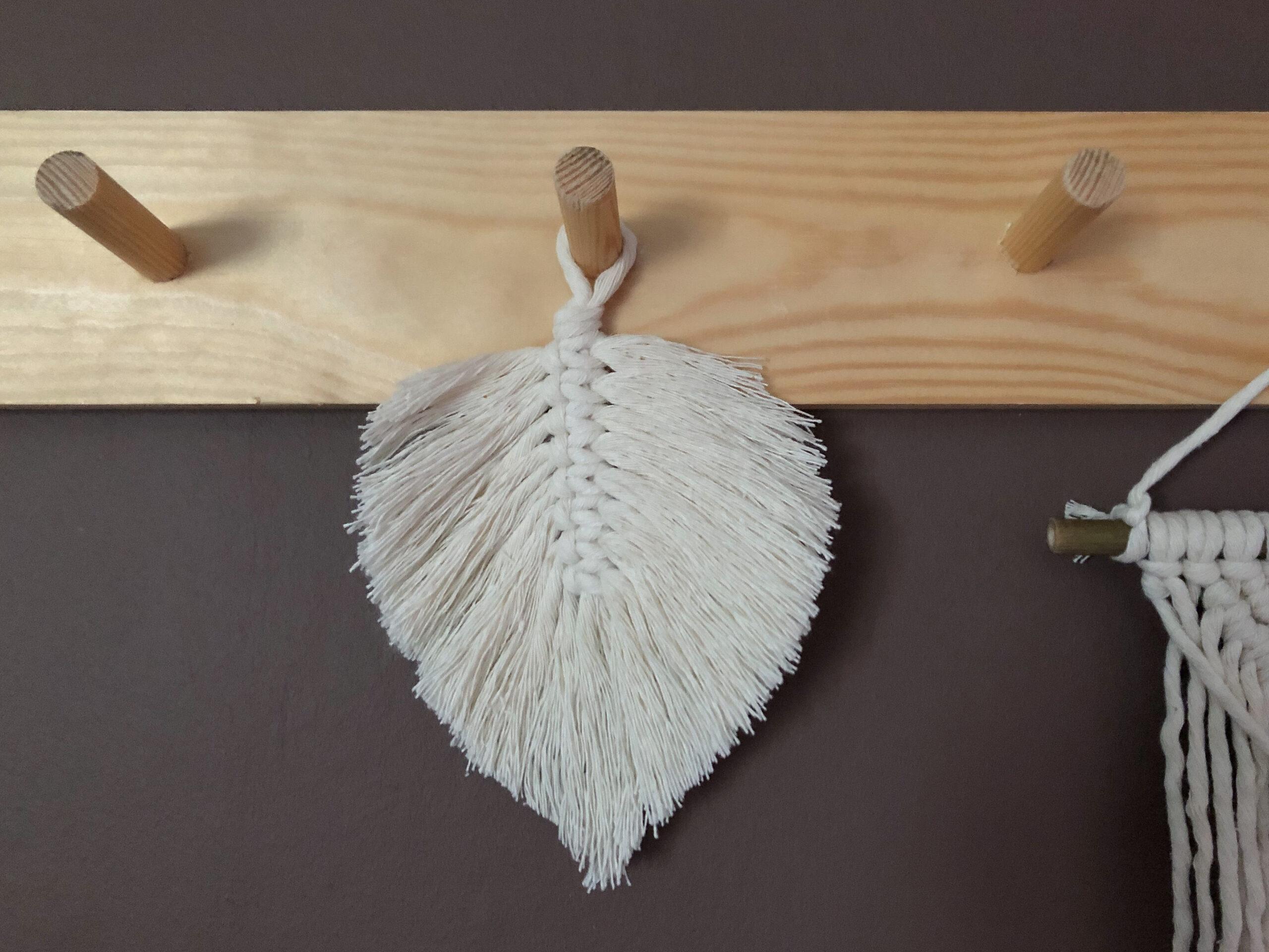 DIY Makrame fjäder